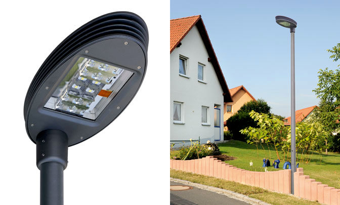 A 0.03 - Model Group LED Street Lights - Series Silver Ellipse 30