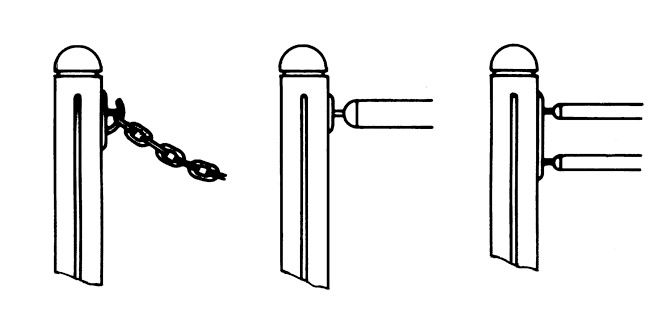 Bollard Accessories - Dimension drawing