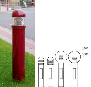 Model Overview- Series Thick Light Bollards
