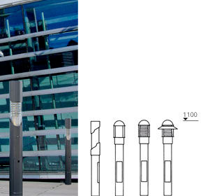 Model Overview- Series Thin Light Bollards