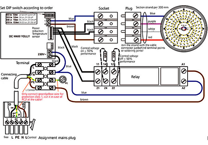 Wiring diagram round module LED-R84